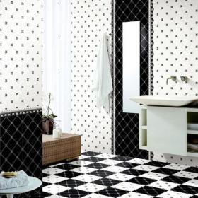 卫生间墙面白色瓷砖图片效果图