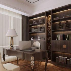 現代簡約四居室書房飄窗裝修效果圖欣賞