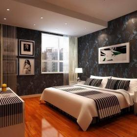 現代簡約二居室臥室燈具裝修圖片效果圖