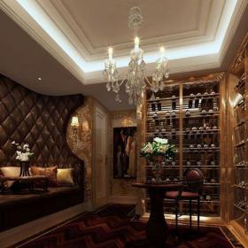古典歐式別墅餐廳吧臺裝修效果圖