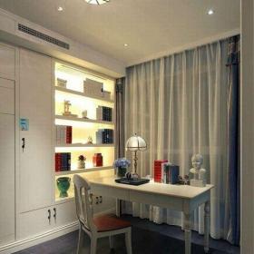 現代簡約二居室書房窗簾裝修效果圖