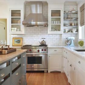 北歐櫥柜120㎡家居收納大廚房收納空間的整潔之美裝修效果圖