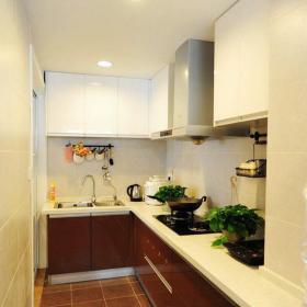 二手房現代100㎡家居收納簡單設計打造實用廚房空間裝修效果圖