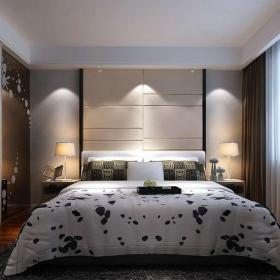 现代简约三居室卧室隔断装修图片效果图