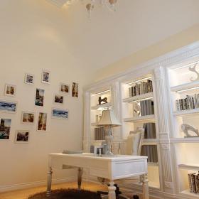 照片墻歐式書房裝修效果圖