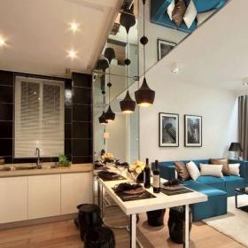 現代簡約四居室廚房燈具裝修效果圖大全