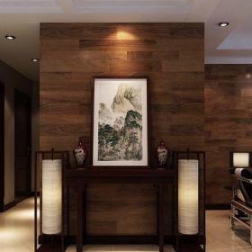 东南亚风格三居室玄关隔断装修效果图大全