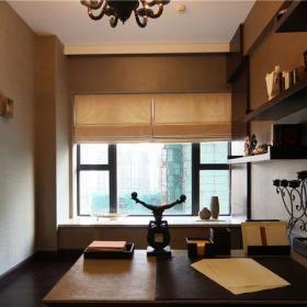 現代簡約三居室書房飄窗裝修效果圖欣賞