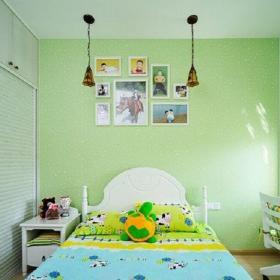 田园风格三居室儿童房照片墙装修图片效果图欣赏