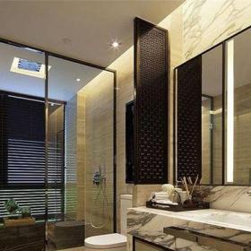中式風格四居室衛生間隔斷裝修圖片效果圖