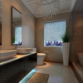 現代簡約二居室衛生間梳妝臺燈具裝修效果圖大全