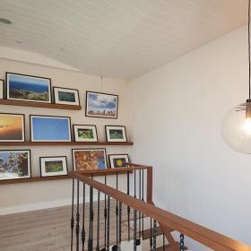 田園風格樓梯間相片墻圖片效果圖