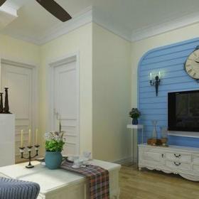 地中海風格一居室客廳隔斷裝修效果圖欣賞