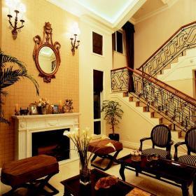 樓梯歐式風格客廳裝修效果圖
