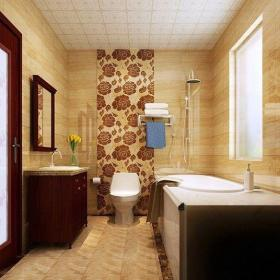 中式風格三居室衛生間吊頂裝修效果圖