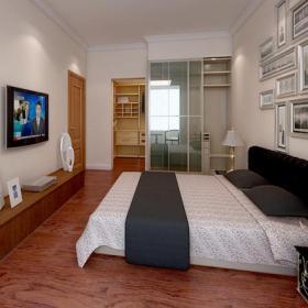 卧室背景墙简约卧室效果图