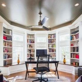 現代室內書房飄窗效果圖
