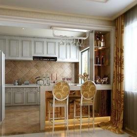 最新歐式廚房吧臺裝修設計效果圖