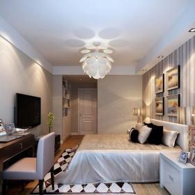 現代簡約二居室臥室吊頂裝修效果圖欣賞