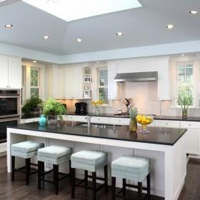現代簡約開放式廚房吧臺裝修效果圖大全效果圖