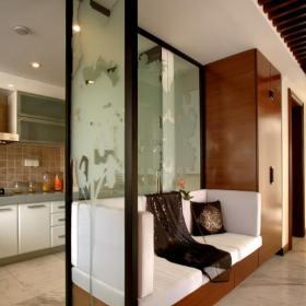 美式風格廚房隔斷墻設計效果圖