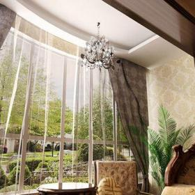 简欧风格二居室阳台灯具装修效果图