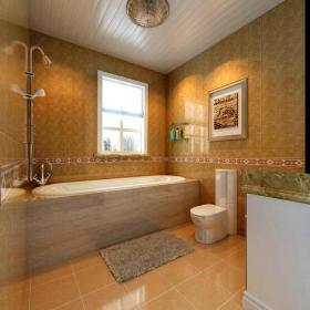 花灑墻面裝飾浴缸吊頂三居大戶型浴缸140m2現代簡約風格衛生間裝修效果圖現代簡約風格座便器圖片