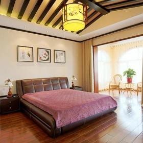 中式風格四居室臥室照片墻裝修效果圖大全