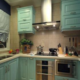 地中海风格四居室厨房灯具装修效果图欣赏