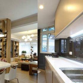 現代簡約三居室廚房燈具裝修效果圖欣賞