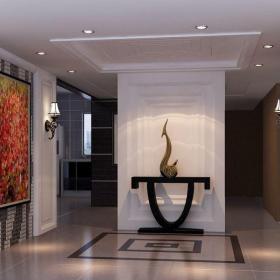 現代簡約別墅玄關樓梯裝修效果圖大全