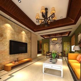 东南亚室内地面铺装家装效果图