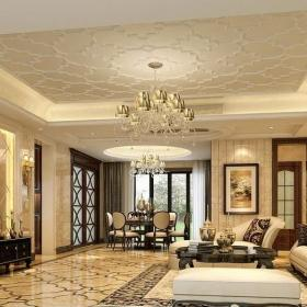 新古典室内地面铺装效果图