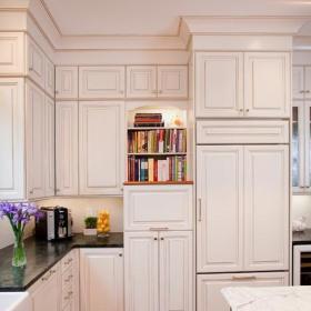 大气半开放式厨房欧式过道吊顶橱柜定制效果图