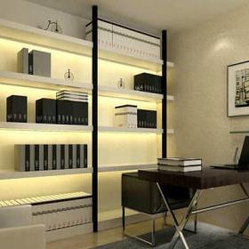 現代簡約三居室書房窗簾裝修效果圖