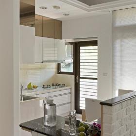 現代簡約風格裝修廚房小吧臺圖片效果圖