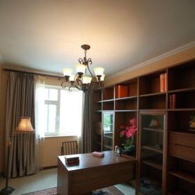 東南亞風格三居室書房窗簾裝修效果圖