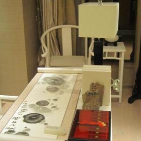 中式風格三居室書房燈具裝修效果圖欣賞