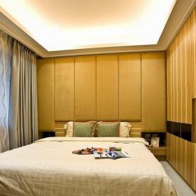 美式格調臥室背景墻設計裝修圖效果圖