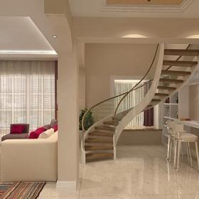 樓梯梯過道現代風格復式樓梯裝修效果圖
