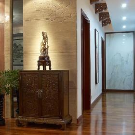 雕花隔斷家飾別墅過道中式風格的玄關設計經典之美效果圖大全