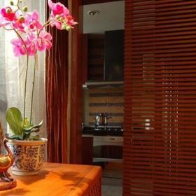 东南亚风格红木隔断装修图片装修效果图