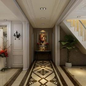 200㎡復式樓歐式風格過道吊頂裝修效果圖歐式風格燈具圖片