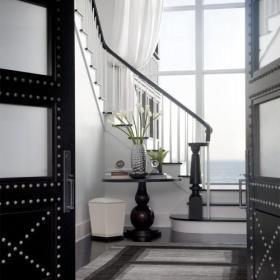 樓梯新古典別墅復式樓120㎡浩瀚的歐式氣場裝修效果圖
