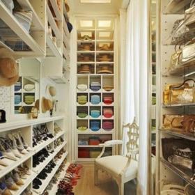 鞋柜北欧110㎡吊顶衣柜衣帽间家居收纳丰富多彩的衣帽世界效果图欣赏