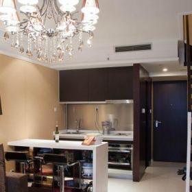 白色61-90平米二居室跃层现代简约吧台装修效果图