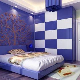 吊顶背景墙现代简约风格二居室卧室背景墙装修效果图现代简约风格吊顶图片