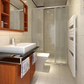 现代风格卫生间背景墙装修效果图现代风格面盆图片
