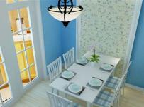 地中海風格四居室餐廳餐桌裝修效果圖大全