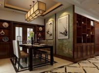 中式古典三居室餐廳儲物柜裝修效果圖大全